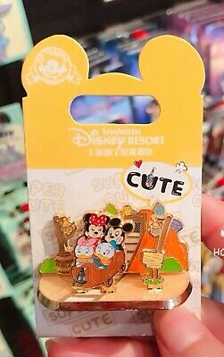 Disney Parks Shanghai 2019 Cute Mickey & Minnie 3D Collection Trading Pins
