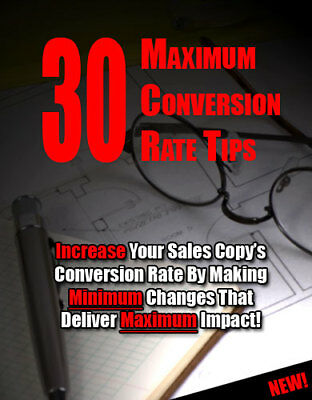 30 Maximum Conversion Rate Tips PDF eBook With Resale rights