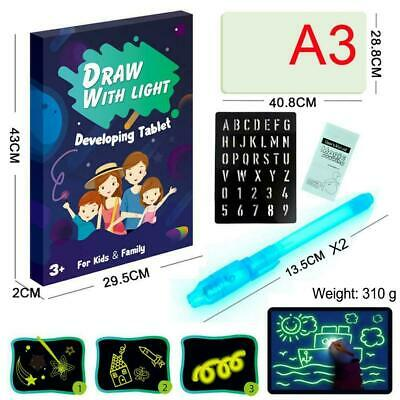 Creative Fluorescent Light Writing Pad Drawing Kid Painting Board Education O1M1