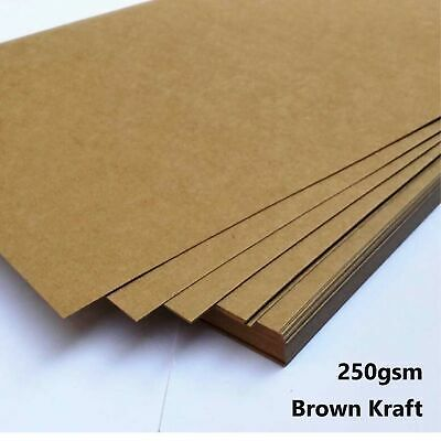A4 Brown Kraft Paper Sheet 250GSM Natural Recycled Invitation Wedding