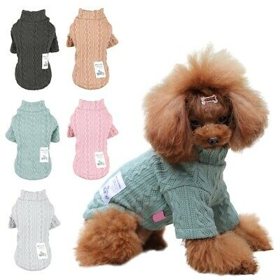 Small Pet Dog Cat Winter Sweater Knitwear Coat Clothes Puppy Warm Jacket Apparel
