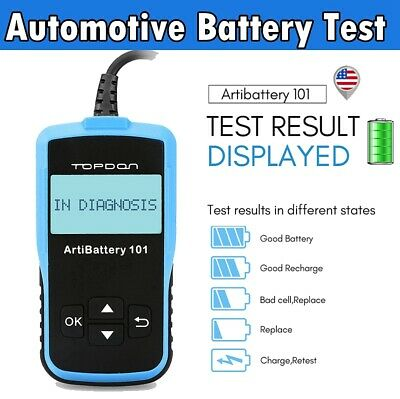 Battery Tester 12V Auto Car Boat Cranking Charging System Diagnostic Scan Tool