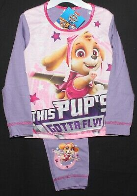 PAW PATROL Pyjamas/Girl's Long-Sleeved Lilac SKYE PJs Sizes 18 Months-5 Years