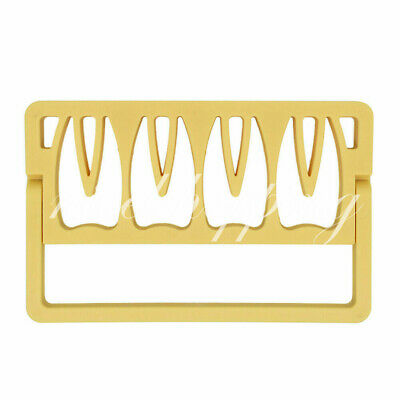 1Pcs Dental Endodontic Root Canal File Holder Box Disinfection Rack Yellow