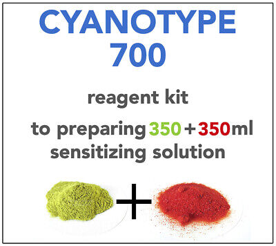 CYANOTYPE REAGENT KIT (x 350+350ml) -ALL YOU NEED TO SENSITIZE 150-160 A4 SHEETS