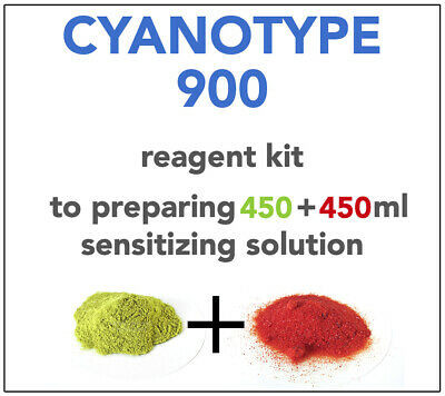 CYANOTYPE REAGENT KIT (x 450+450ml) -ALL YOU NEED TO SENSITIZE 150-160 A4 SHEETS