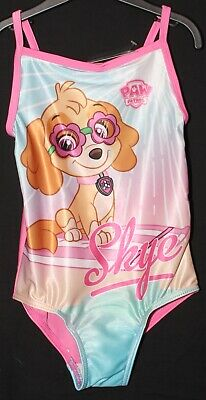 Girls Pink PAW PATROL Swimming Costume / Official SKYE Swimsuit NWT  2-6 years