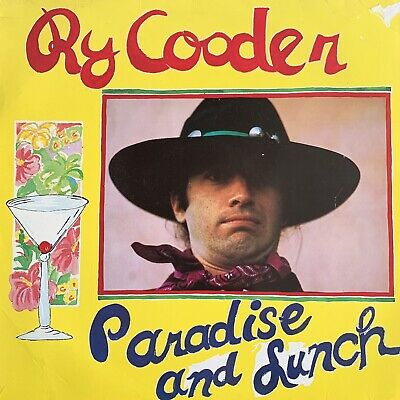 """Ry Cooder - Paradise And Lunch - 12"""" Vinyl Lp (Germany)"""