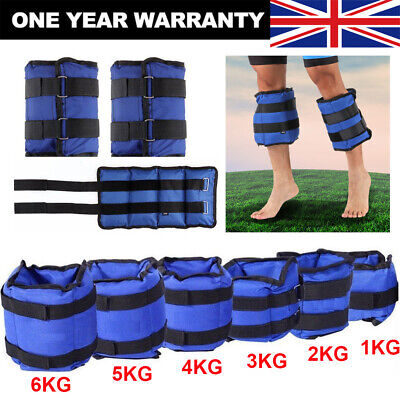 Ankle Weights Adjust Leg Wrist Strap Running Training Fitness Gym Straps 1KG-6KG