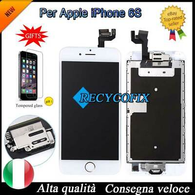 PER IPHONE 6 S BIANCO ASSEMBLATO COMPLETO DISPLAY SCHERMO LCD CON Button &Camera