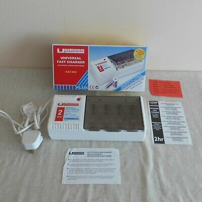 Uniross CX1205 Universal Battery Charger Plus. Boxed