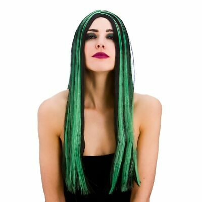 Adult Ladies Gothic Bewitched Vampire Witch Wig Fancy Dress Halloween