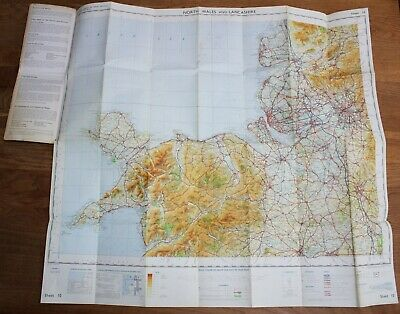 Ordnance Survey Map SNOWDONIA NATIONAL PARK 1/2 inch to 1 mile North Wales Rhyl