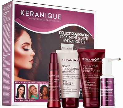 Keranique Deluxe Regrowth Treatment - Deep Hydration Kit NEW SEALED