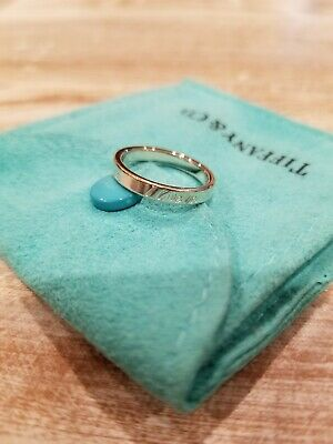 Tiffany & Co Sterling Silver I Love You Inscription Ring Size 4.25