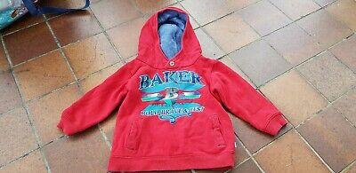 Baker By Ted Baker Boys Red Hooded Top Age 2-3 Years
