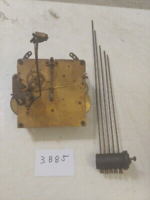 Antique German Wurttenberg Westminster Chimes Clock Movement And Chime Bar