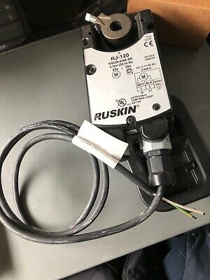 Ruskin RJ-120 Actuator M9206-BAA-RK, 6 Nm (53 in-lb) 120V @ 60Hz, 0.084A, NO BOX