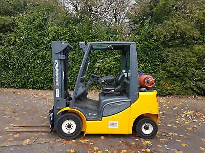 JUNGHEINRICH 2500KGS GAS FORKLIFT TRUCK.4.7m TRIPLE FULL FREE LIFT AND SIDESHIFT