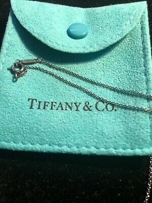 """Authentic Tiffany & Co Sterling Silver 25.5"""" Inch Chain Necklace"""