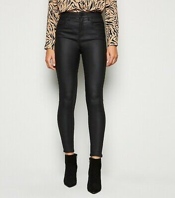 New Look Black Coated 'Lift & Shape' Skinny Jeans Size 4 To 18