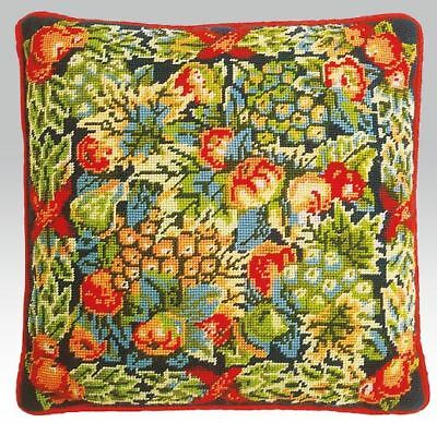 EHRMAN KAFFE FASSETT Christmas Fruits CUSHION TAPESTRY NEEDLEPOINT KIT VINTAGE