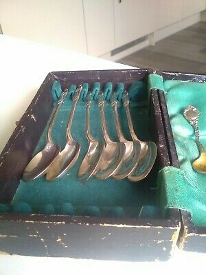 Antiques apostle spoons plus two mustard spoons