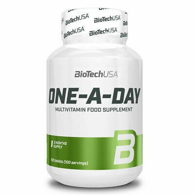 BIOTECH USA ONE A DAY 100 cpr. MULTIVITAMIN FOOD SUPPLEMENT 3 MONTHS SUPPLY