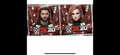 WWE 2k20 Digital Supercard Codes Roman Reigns & Becky Lynch Instant message