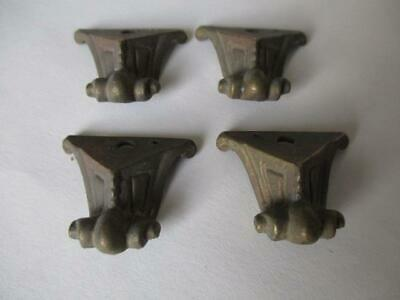 Victorian design feet, set of four,  suit caddy, box, clock  F34