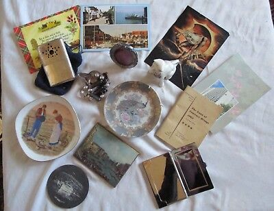Vintage job lot of mixed collectables 1963 Bridge booklet, mini plates etc
