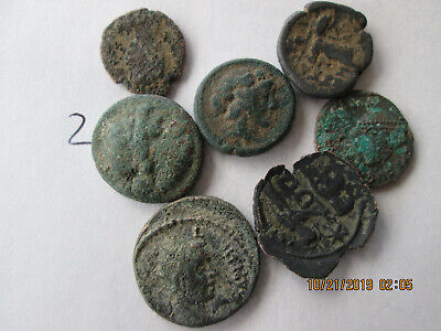 LOT # 2 OF X 7 ancient greek roman COINS OVER 2000 YEARS OLD