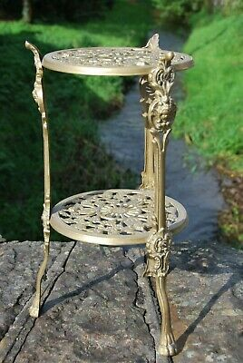 Brass Two Tier Trivet / Plant Stand