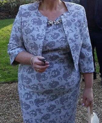 BEAUTIFUL IZABELLA MOTHER OF THE BRIDE GROOM DRESS & JACKET SIZE 20 Worn Once