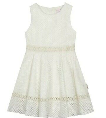 Ted Baker - 'Girls' white lace prom dress BNWT 4-5
