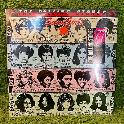 THE ROLLING STONES SOME GIRLS • SEALED • early press RARE BLACK HYPE STICKER