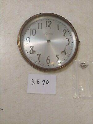 Antique Sessions Mantle Clock Dial & Bezel With Glass With Screws