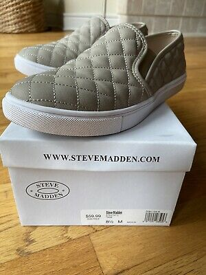 Steve Madden Slip On Sneaker Shoes Women's Size 8.5 Nude Great Condition