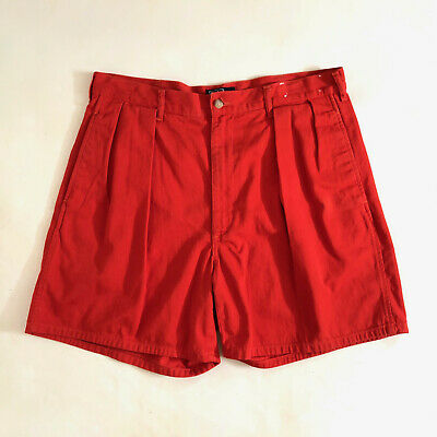 POLO RALPH LAUREN!!! Vintage 1980s 'Polo Ralph Lauren' mens red pleated shorts