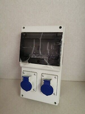 Scame IP44 Blue Wall Mount 2P+E RCD Industrial Power Connector Socket, 16A 230v