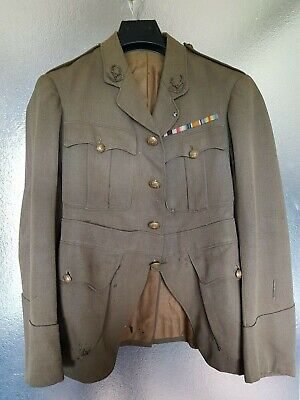 WW1 Tunic of 2nd Lieut with notice of commission and gallantry award