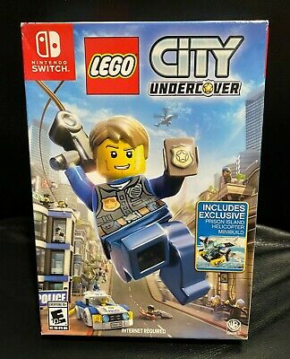 Lego City Undercover Nintendo Switch Collectors w Helicopter Toys R Us Exclusive