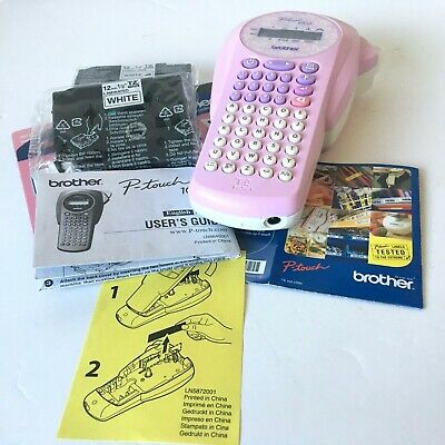 Brother P-Touch 1000P Labelling Machine Pink Limited Edition - Fully Working