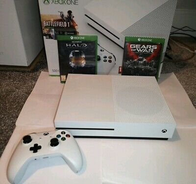 Microsoft Xbox One S 500gb Console with 2 Games and Extra 3rd party controller