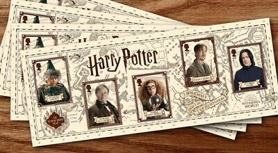 100 1st First Class Harry Potter Self Adhesive Stamps In Sheetlets Mint FV £70