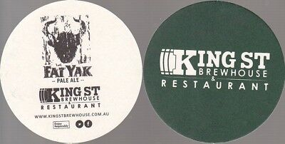 Fat Yak Kings St Brewhouse - Green Round Coaster - Beer Mat