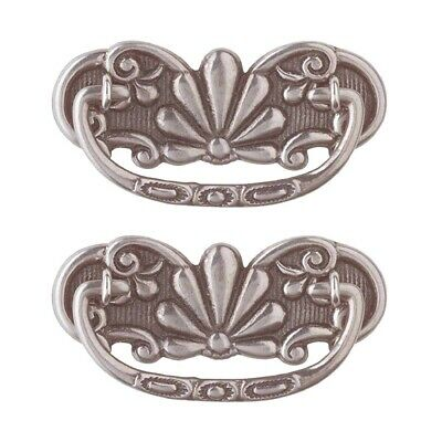 2 Cabinet Pull Pewter Solid Brass Scalloped Bail | Renovator's Supply