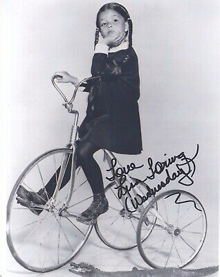 """Signed Original B&W Photo of Lisa Loring of """"The Addams Family"""""""