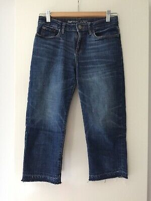 Gap Girls Straight Crop Jeans Age 13-14 Blue- Excellent Condition