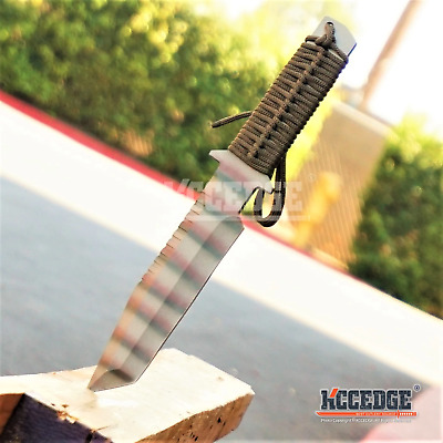 "12"" FULL TANG Heavy Duty Camouflaged Outdoor Survival Tactical Fixed Blade Knife"